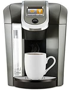 Keurig K575 Single Serve Programmable K-Cup Coffee Maker with 12 oz Brew Size and Hot Water on Demand, Platinum