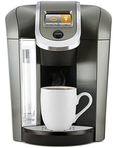 Morning 12 Cup Coffee Maker (Keurig K575 Single Serve K-Cup Pod Coffee Maker with 12oz Brew Size, Strength Control, and Hot Water on Demand, Programmable, Platinum)