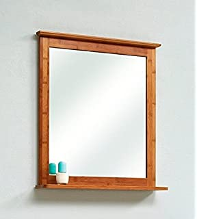 IKEA RAGRUND Spiegel aus Bambus; (53x50cm): Amazon.de: Küche ... | {Spiegel mit beleuchtung ikea 39}