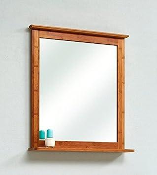 Spiegel mit beleuchtung und ablage  Spiegel mit Beleuchtung Jakob Bambus: Amazon.de: Küche & Haushalt