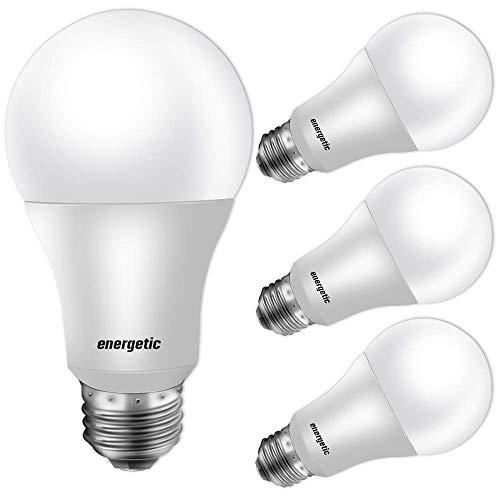 40W Equivalent A19 LED Light Bulb, Warm White 3000K, E26 Standard Base, UL Listed, Non-Dimmable LED Light Bulb, 4 Pack