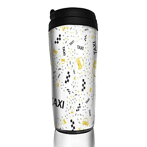 coffee cups with lids Seamless pattern with Yellow taxi icons with a geolocation icon on a white background Flat vector illustration EPS 10 12 oz,coffee cup warmer for car (Kcup Taxi)