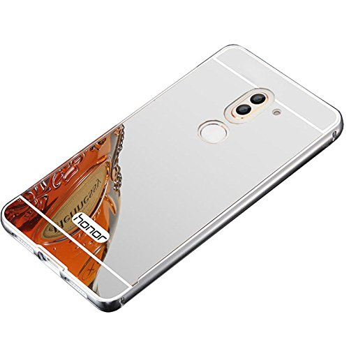 Aluminum Metal Frame Back Cover Case for Huawei Honor 6X (Silver) - 5