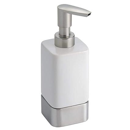 InterDesign Gia - Dosificador de jabón líquido, Blanco
