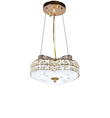 Diamond Life Modern LED Crystal Chandelier Pendant Hanging or Flush Mount Ceiling Lighting Fixture, 3 light colors in one Smart Lamp, 500