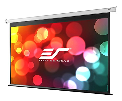 Elite Screens VMAX2, 136-inch 1:1, Wall Ceiling Electric Motorized Drop Down HD Projection Projector Screen, VMAX136XWS2 by Elite Screens