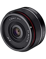 Samyang 35/2,8 objectief DSLR autofocus Sony E full-formaat fotoobjectief lichtsterkte F2.8, pancakeobjectief groothoeklens, Fotolens, zwart