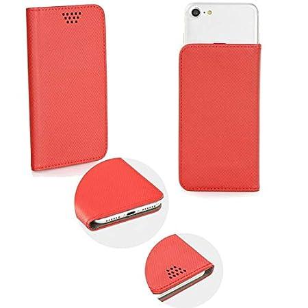 Supercase24 Doogee Y6 Piano Black Book Case Klapp Cover Schutzhülle Etui Handytasche Flip mit Smart Magnet in rot