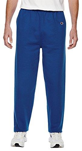 Champion Men's Cotton Max Fleece Pant, Sport Royal (Small)