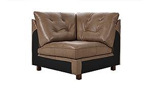 Capoli Brown Leather Modular Corner Chair