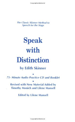Speak with Distinction: 75-Minute Audio Practice CD and Booklet (Applause Acting Series) by Brand: Applause Theatre n Cinema Books