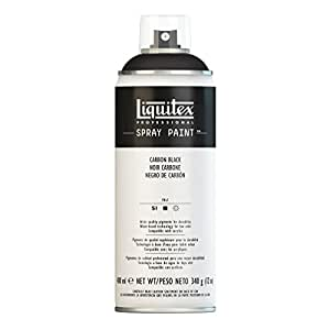 Liquitex Professional Spray Paint 12-oz, Carbon Black