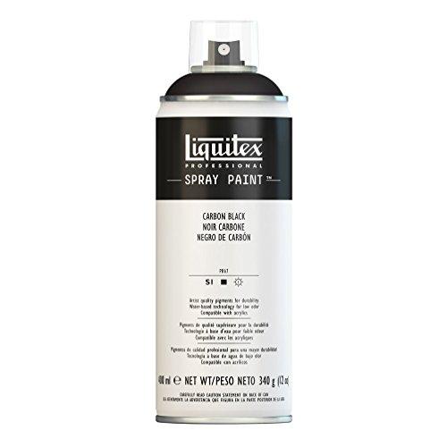 Acrylic Spray Paint (Liquitex Professional Spray Paint 12-oz, Carbon Black)