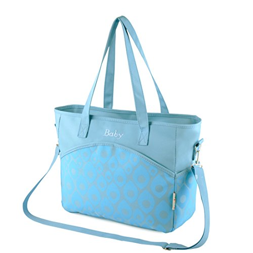 5 in 1 Multifunction Baby Diaper Changing Bag (Light Blue) - 1