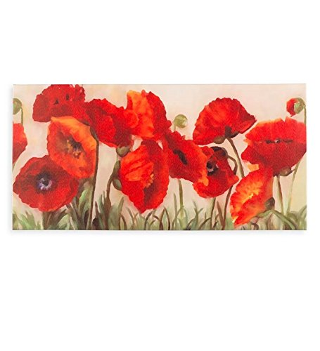 Floral Poppies Indoor Outdoor Canvas