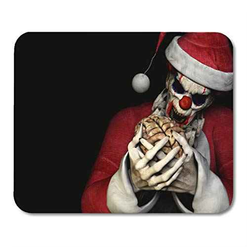 Semtomn Gaming Mouse Pad Santa Zombie Brains Scary Clown Wearing Claus Suit About 9.5