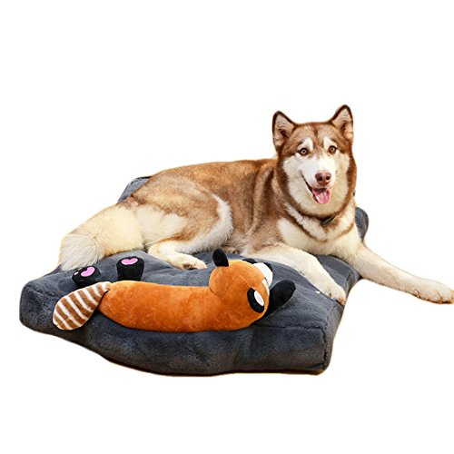 Cute Dog Deds Quiet Time Deluxe Ombre Pet Beds for Dogs & Cats; Comfortable Plush Synthetic Fur Pet Bed for Dogs & Cats With a doll Extra Comfy Cotton-Padded Rim cushion and Nonslip Bottom (grey) (Swirl Time Ombre Quiet)