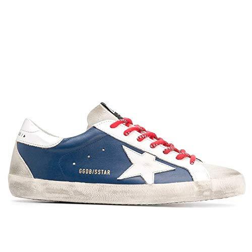 Golden-Goose-Deluxe-Brand-Superstar-Blue-Leather-Mens-Sneaker-G36MS590U59