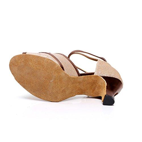 misu - Zapatillas de danza para mujer negro negro Rosa