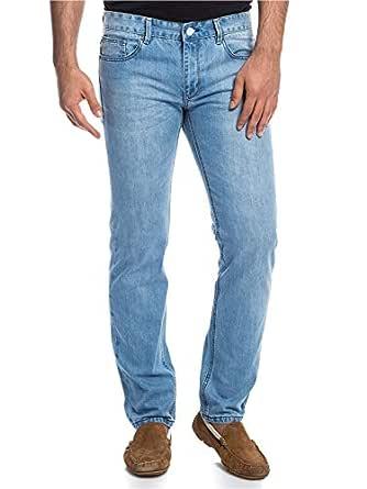 Pierre Cardin Blue Straight Jeans Pant For Men