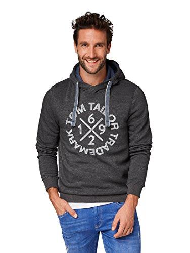 TOM TAILOR Herren Sweathoody mit Kaputze und Druck Sweatshirt