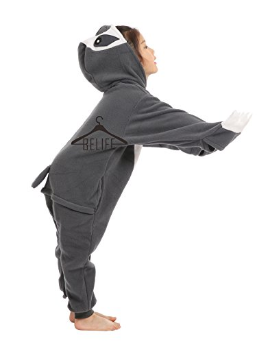 BELIFECOS Unisex Parent-Child Outfit Kids Sloth Cosplay Costume Onesie Pajamas ()