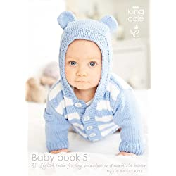 King Cole Baby Book Five Knitting Book Double Knitting Patterns Prem to 18 months
