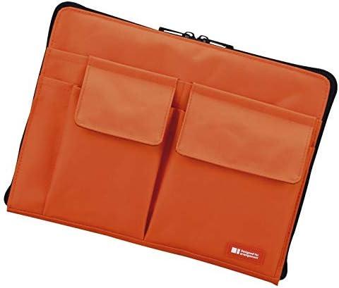 リヒトラブ バッグインバッグA5 橙 A7553-4 【事務用品 ファイル うすい かわいい おしゃれ ふたつおり はさむ】