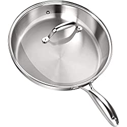 Stainless Steel Skillet with Glass Lid