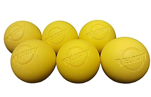 6 Pack of Velocity Lacrosse Balls for Adults & Kids: Official Size for Professional, College & High School. NOCSAE, NCAA, NFHS Certified & Officially Licensed. - Color Yellow(Women). - Meets Nocsae Standard