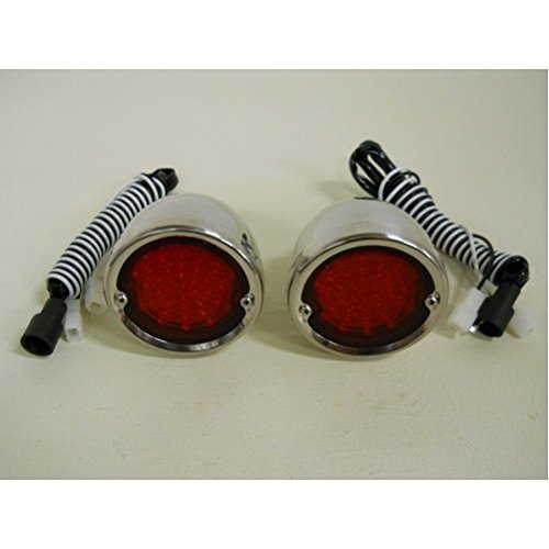(United Pacific 1954-1959 Chevy Truck Red LED StopTurn Tail Lights / 1955 1956 1957 1958 /)