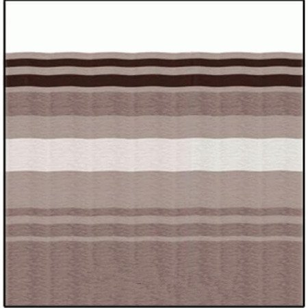 Carefree JU218A00 RV Awning Vinyl Fabric 21FT - Sierra Brown Dune Stripe With White Weatherguard