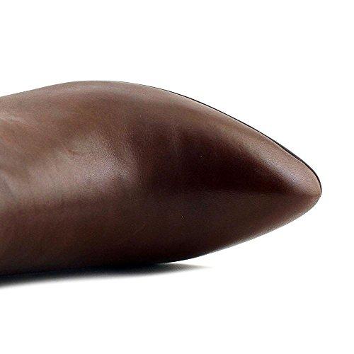 Anne Klein Kvinners Chelsey Lær Pumper Ankelstøvletter Mørk Cognac Skinn