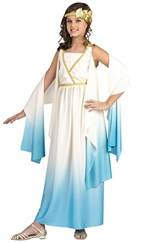 Fun World Greek Goddess Child Costume Cream Large (Cute Halloween Costumes For Big Girls)