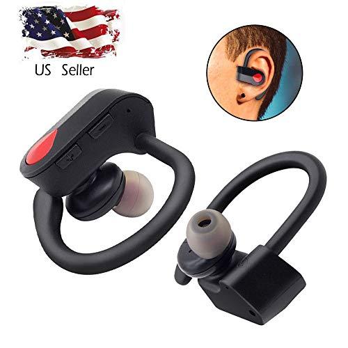 Lljin True Wireless Sport Headphones Bluetooth Earphones Twins Ear Hook Bass Headset (Ship from US)