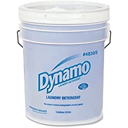 Ajax-Phoenix Brands Dynamo Liquid Laundry Detergent, 5Gal, White