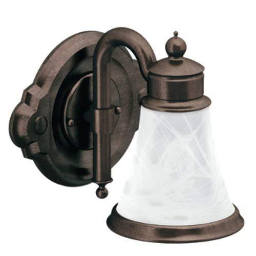 Moen YB9861ORB Waterhill Single Globe Bath Light, Oil Rubbed Bronze