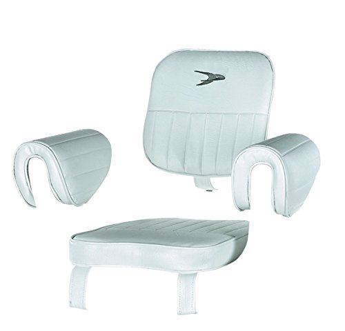 Wise 8WD1007-2-710 Captains Chair Cushions Set Only, White