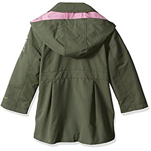 London Fog Toddler Girls' Lightweight Trench Coat, Olive, 3T