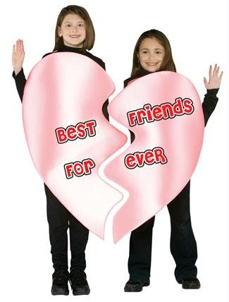 Best Friends Forever Heart Costume - One Size by Rasta Imposta (Best Friend Halloween Costumes For Girls)