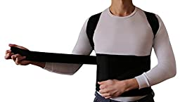 Posture Corrector Brace - Shoulder Back Posture Support Vest to Improve Posture. Back Brace for Posture Correction for Men, Women, and Kids - Stealth Support - Black Large