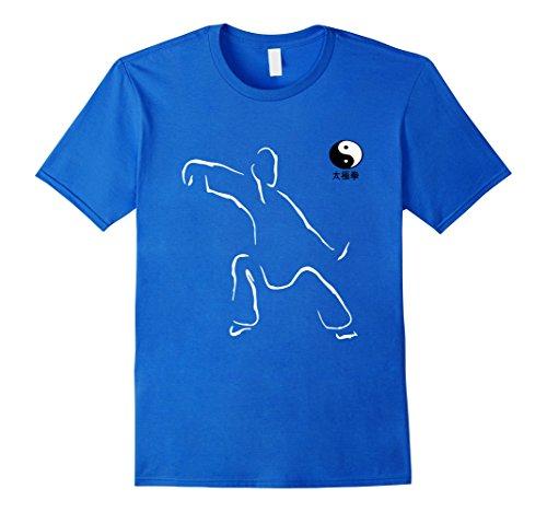 Men's tai chi Tshirt Art martial tshirt Martial art Tshirt XL Royal Blue