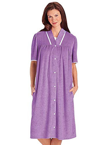 Carol Wright Gifts Terry Snap Robe, Purple, Size Extra Large (4X)