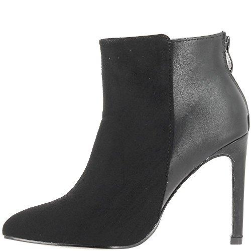 Donne nere stivali a tacco di 10,5 cm materiale bi