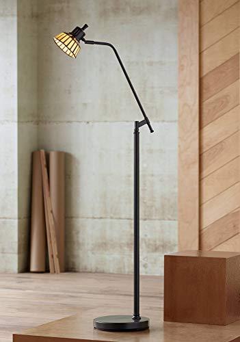 Rayna II Traditional Pharmacy Floor Lamp LED Dark Bronze Tiffany Style Glass Shade for Living Room Reading Bedroom - Robert Louis Tiffany (Led Pharmacy Floor Lamp)