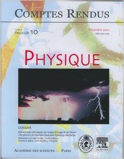 Ebooks télécharger en ligne Comptes Rendus Académie des Sciences, Physique, Tome 3, Fasc 10, Decembre 2002 : Mécanismes Physique PDF 2848758309