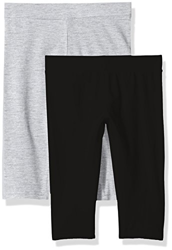 Clementine Apparel Big Girls' School and Workout 2 Pack, Black/Light Gray, (Clothing For School)