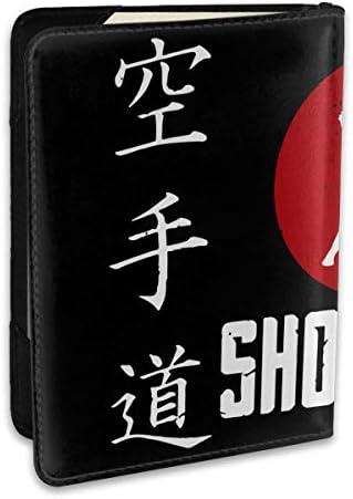 空手道 Japan Flag パスポートケース パスポートカバー メンズ レディース パスポートバッグ ポーチ 収納カバー PUレザー 多機能収納ポケット 収納抜群 携帯便利 海外旅行 出張 クレジットカード 大容量