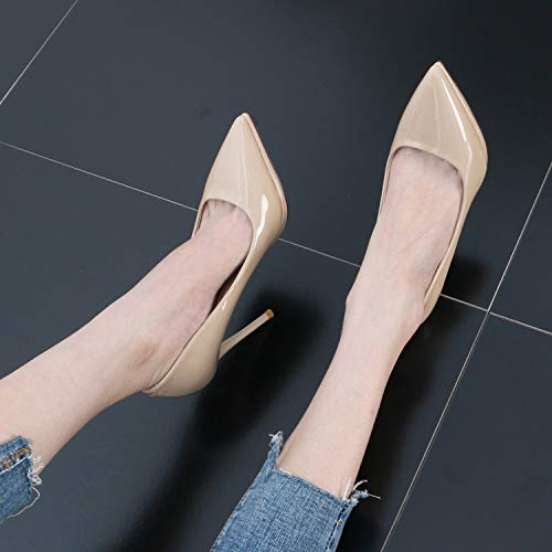 color Waterproof Mouth High Naked Simple Women'S Heel And Table Head SFSYDDY And Sexy Sharp Shoes Thin Shallow Summer 12Cm wqxHUzCR8