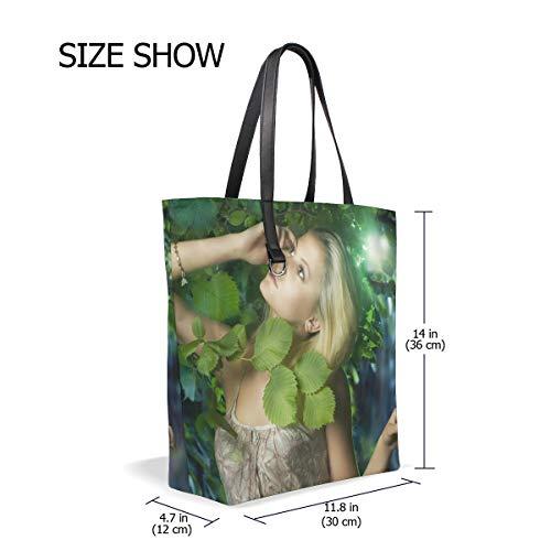 Talla Unica de al mujer 19 Image hombro Lona Bolso XiangHeFu para aqvwzv